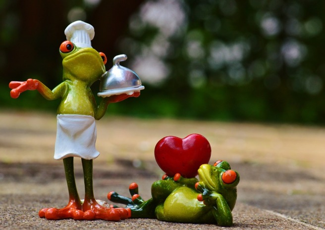 Love Eat Cooking Frog Valentine's Day Kitchen